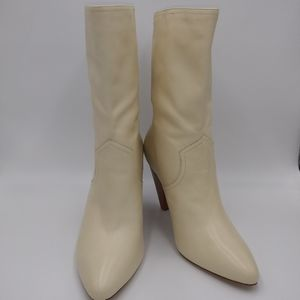 Joie Gabbissy Slouchy Ivory leather boots